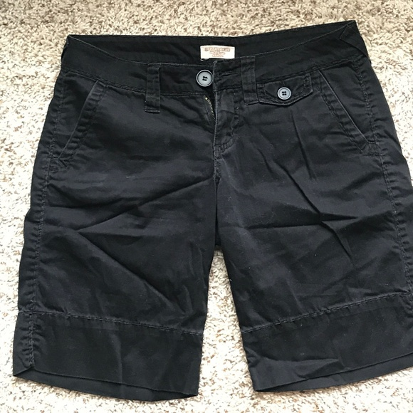 Department of Peace Pants - Knee Length Black Shorts